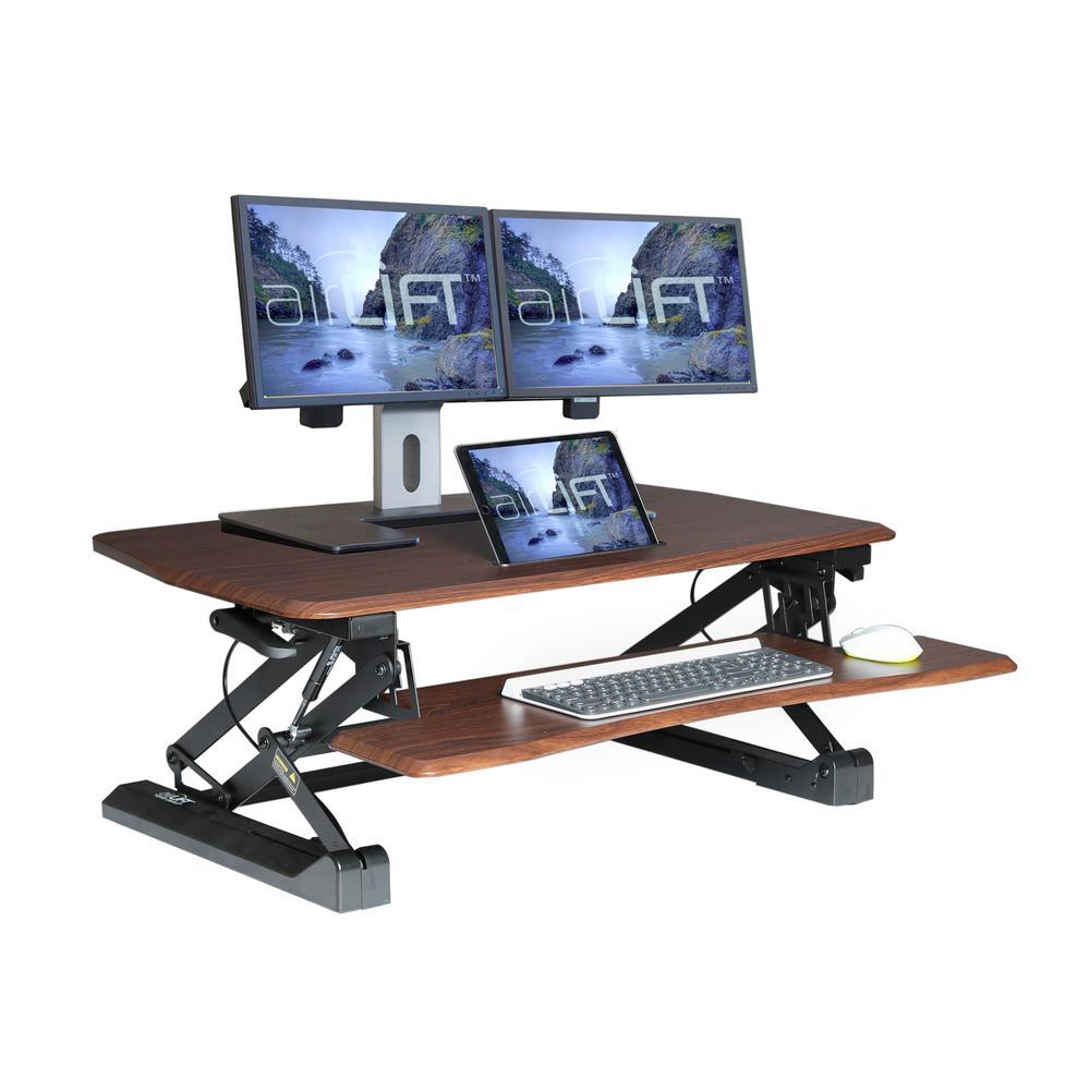 Height Adjustable Standing Desk Converter Sit To Stand Desk Riser Laptop Holder