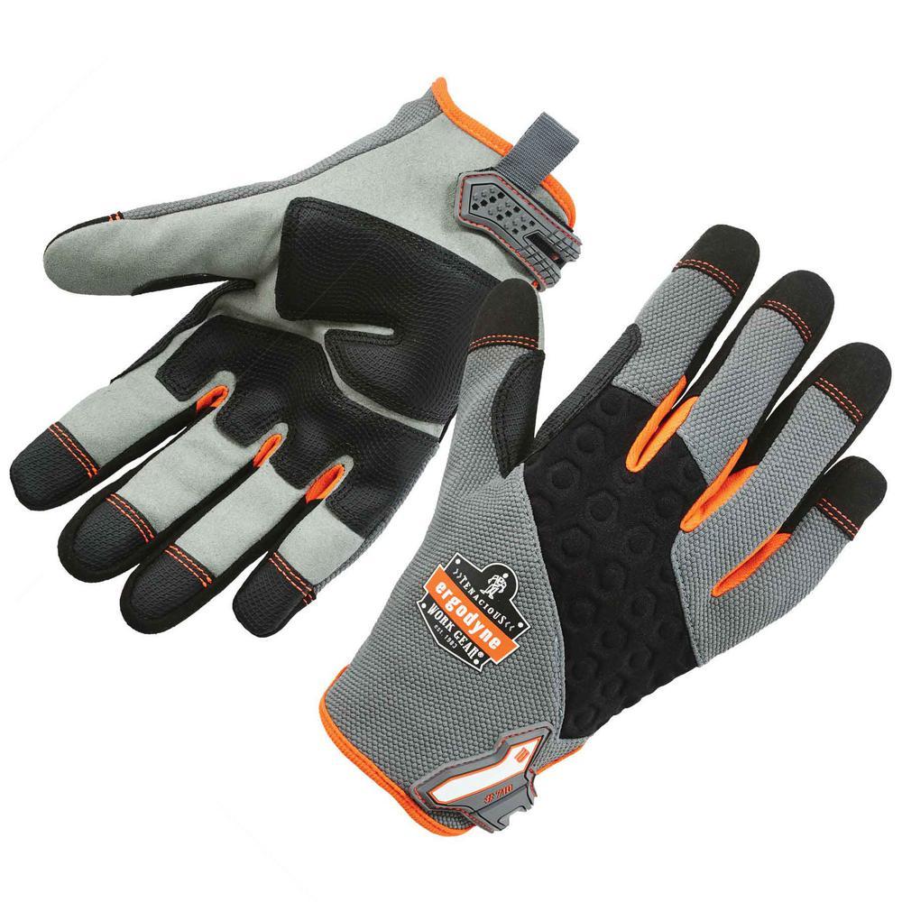 ProFlex Gray Heavy-Duty Utility Work Gloves
