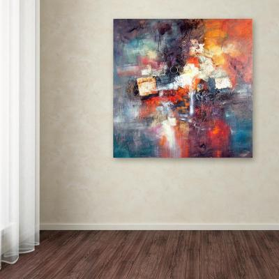 "35 in. x 35 in. ""Cube Abstract III"" by Rio Printed Canvas Wall Art"
