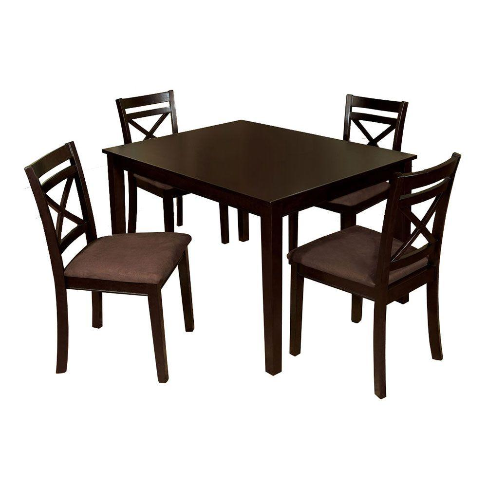 Venetian Worldwide Weston I 5-Piece Espresso Dining Set
