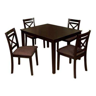 Weston I 5-Piece Espresso Dining Set