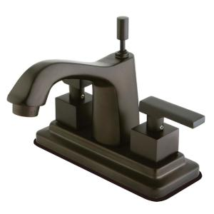 Executive 4 in. Centerset 2-Handle Bathroom Faucet in Oil Rubbed Bronze