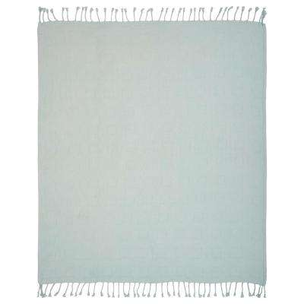 Cherish Spa Blue Soft Cotton Decorative Throw