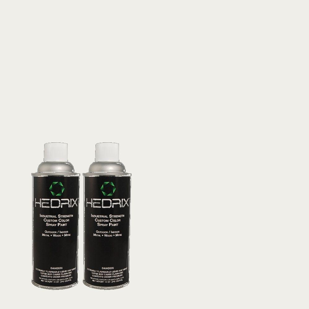 Hedrix 11 oz. Match of W-F-510 Silver Sky Flat Custom Spray Paint (2-Pack)