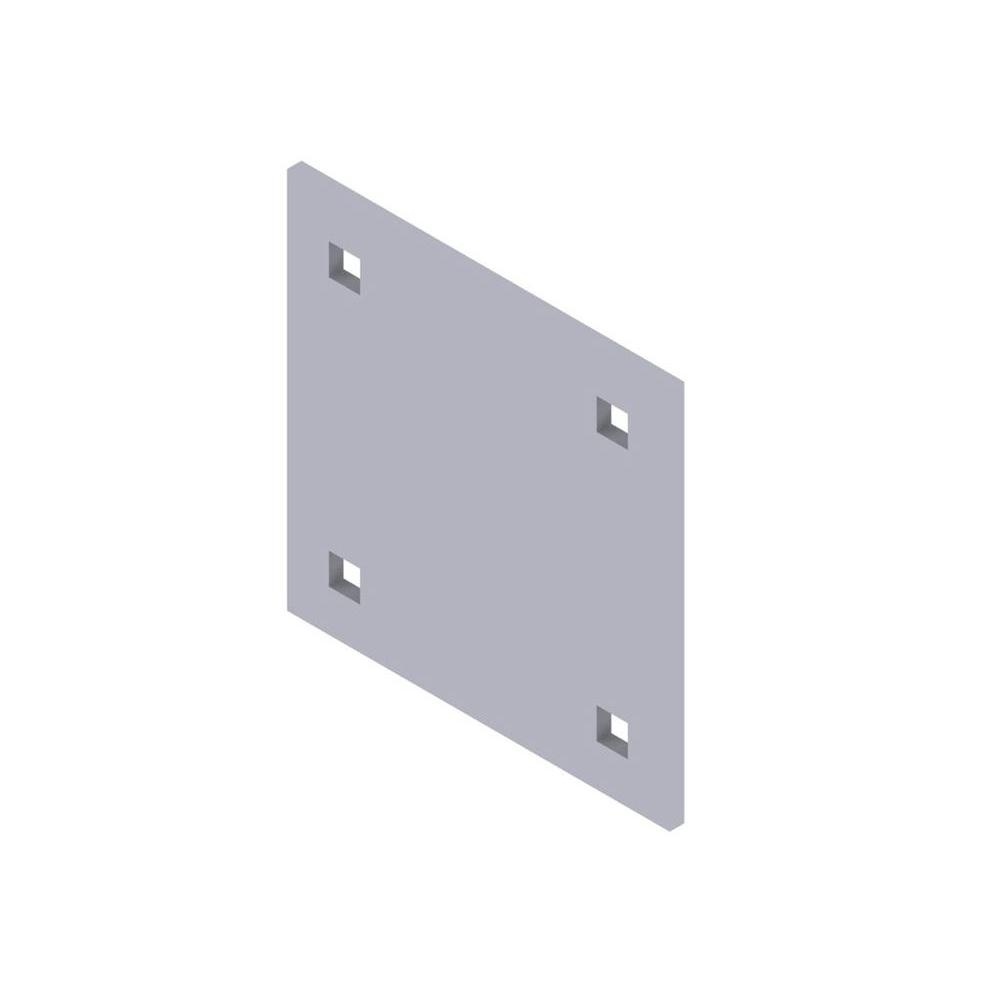 null 5 in. x 5 in. x 1/4 in. Metal Backup Plate
