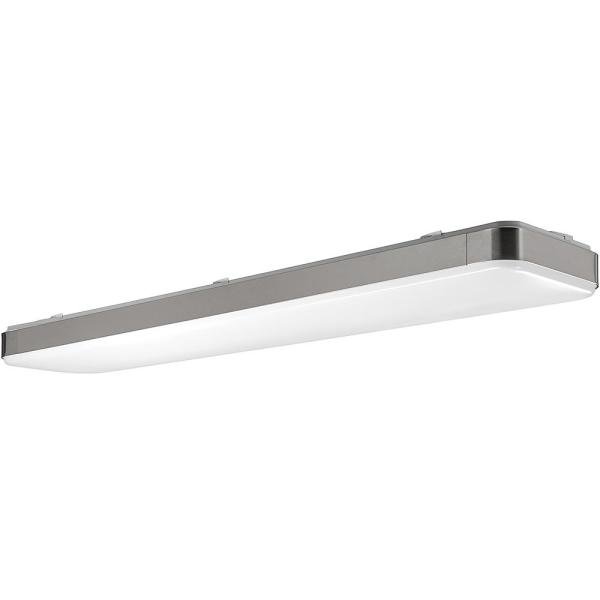 Hampton Bay 48 In X 10 In Rectangle Led Flush Mount Ceiling Light With Wide Brushed Nickel Border Dimmable 3000 Lumens 4000k 54607141 The Home Depot
