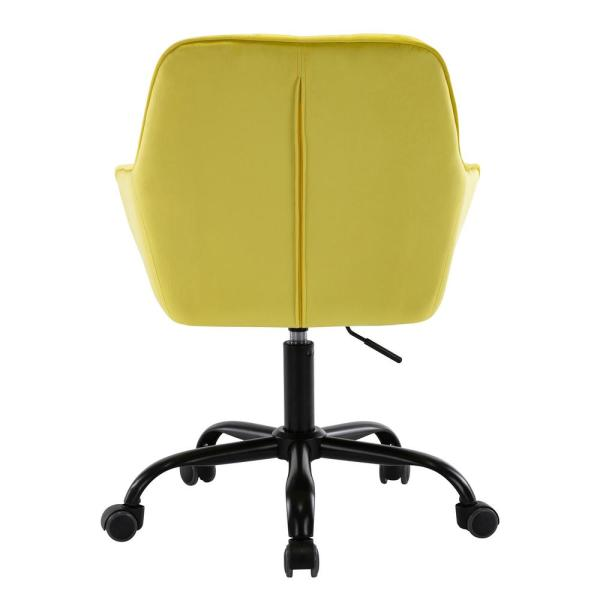 Boyel Living Yellow Comfort Swivel Fabric Home Office Chair With Arms And Adjustable Height Wf Hfof 014y The Home Depot