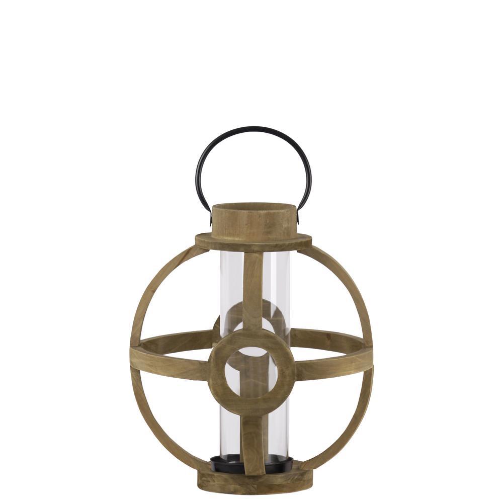UTC53304: Natural Finish Brown Candle Lantern