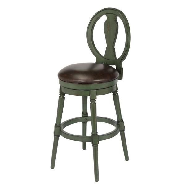 Candace 29 in. Green Bar Height Swivel Stool (Individual) CHP-09227PG