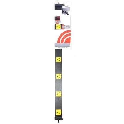 6-Outlet Metal Spaced Power Strip with 3 ft. Cord