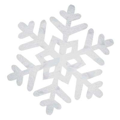 10.5 in. x 10.5 in. Christmas Snowflake Foil Cutout (24-Pack)