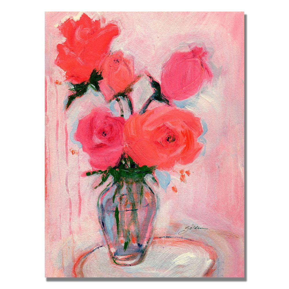 35 in. x 47 in. Roses Canvas Art