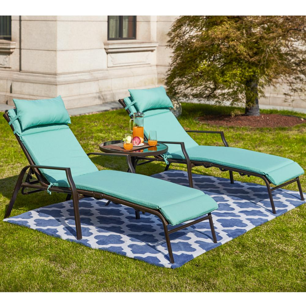 - Turquoise Pillow Perfect Outdoor Best Chaise Lounge Cushion