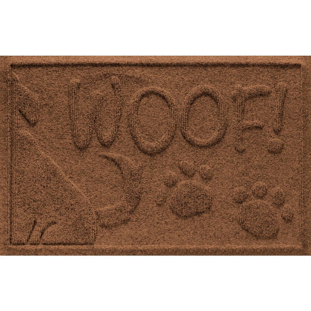 Dark Brown 18 in. x 28 in. Wag the Dog Polypropylene Pet Mat