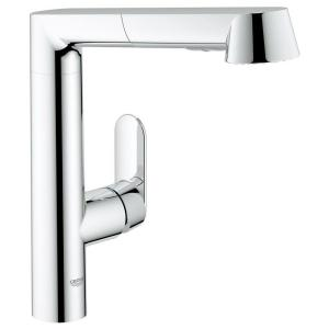 k7 main pullout kitchen faucet in starlight chrome