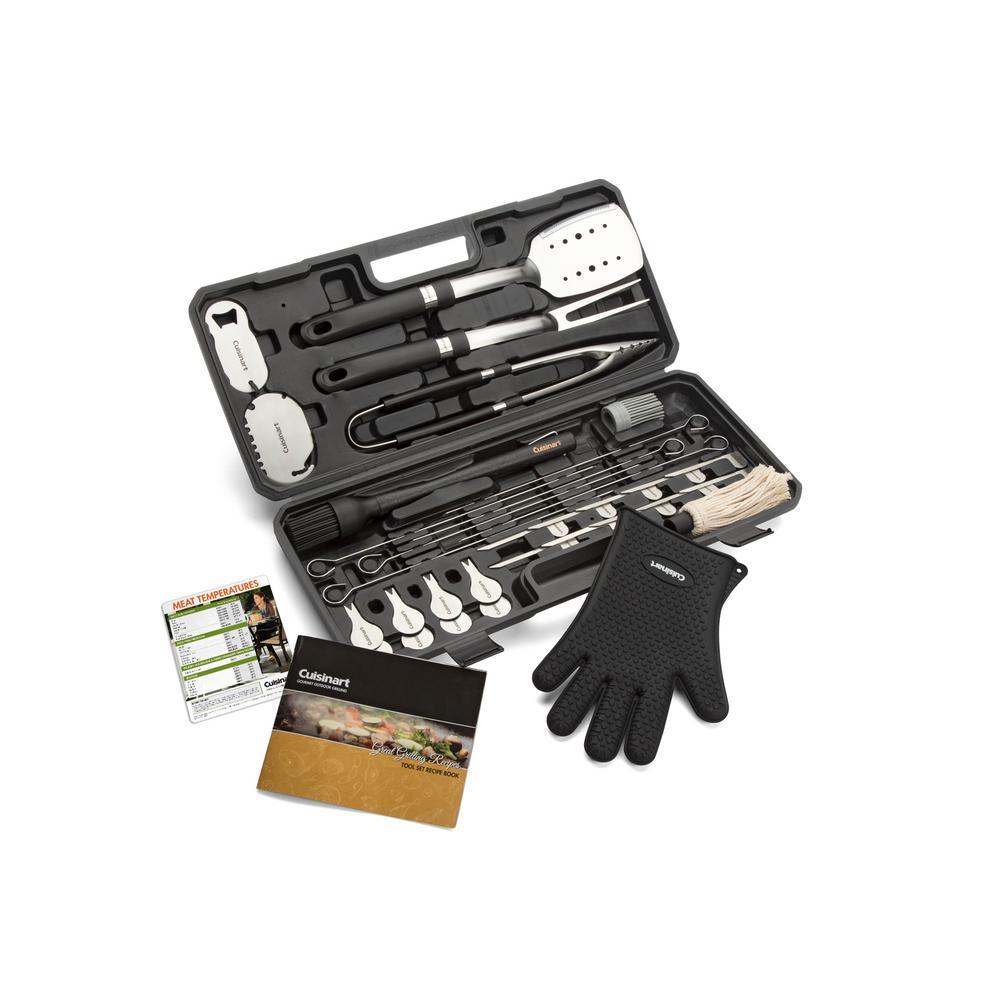 cuisinart 36 piece backyard bbq grill tool set cgs 8036 the home