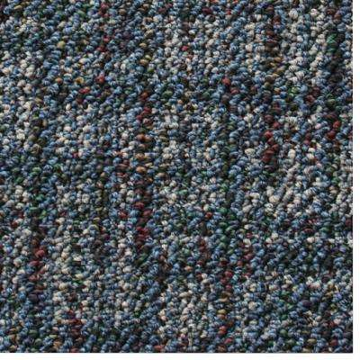 Carpet Sample - Business Case - Color Ocean Pattern 8 in. x 8 in.