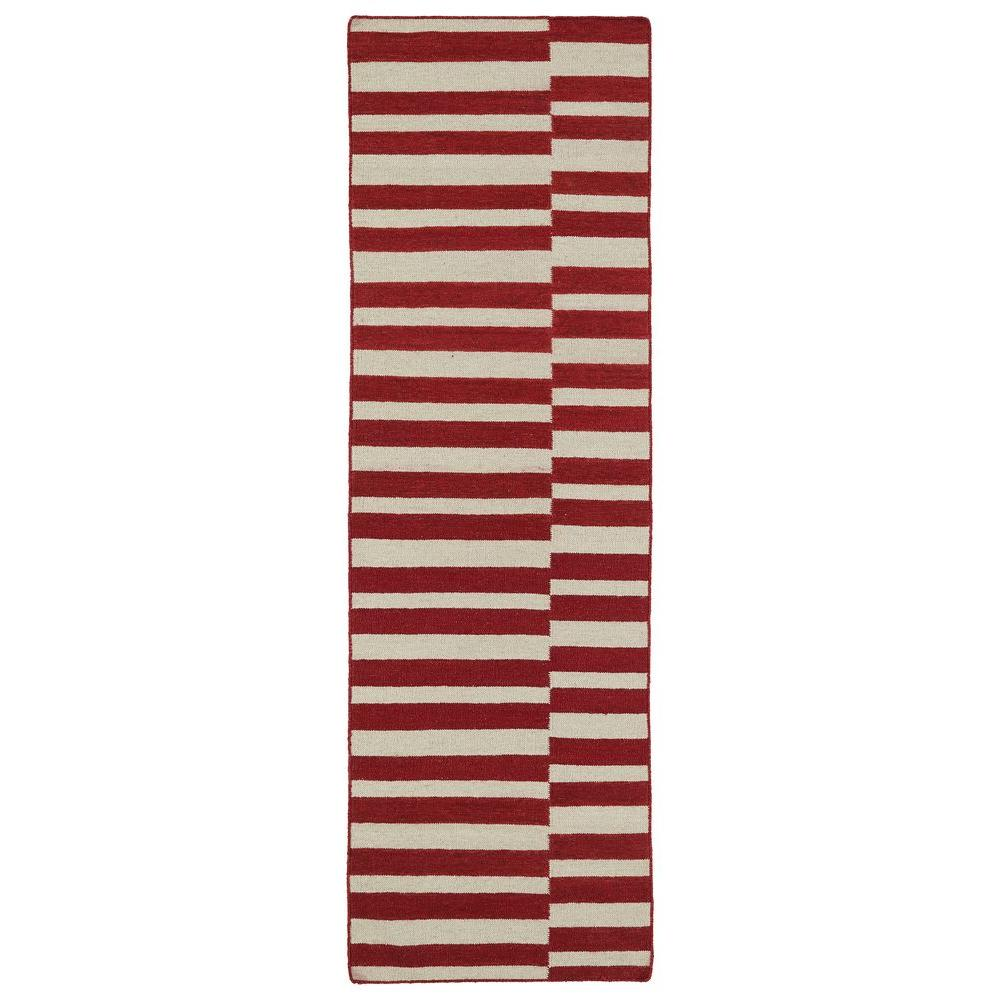 Kaleen Nomad Red 2 ft. 6 in. x 8 ft. Runner