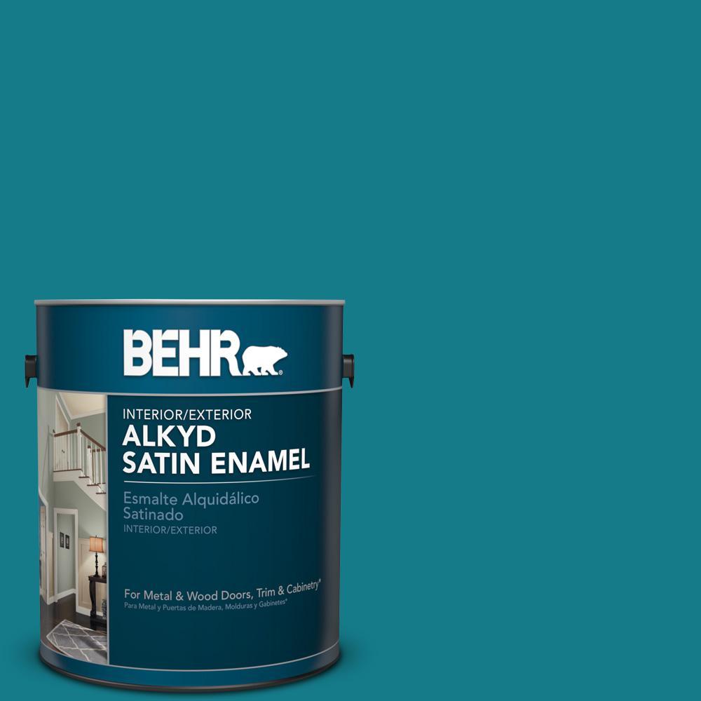 1 gal. #PPU13-1 Caribe Satin Enamel Alkyd Interior/Exterior Paint