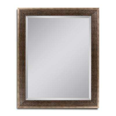 28 in. W x 34 in. H Driftwood Bronze Wall Mirror