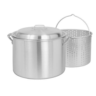20 qt. Aluminum Stock Pot in Stainless Look with Lid
