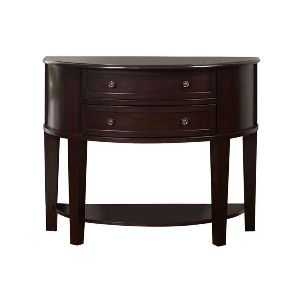 Transitional Espresso Side Table