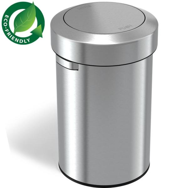 17 Gal. Stainless Steel Swing Top Trash Can