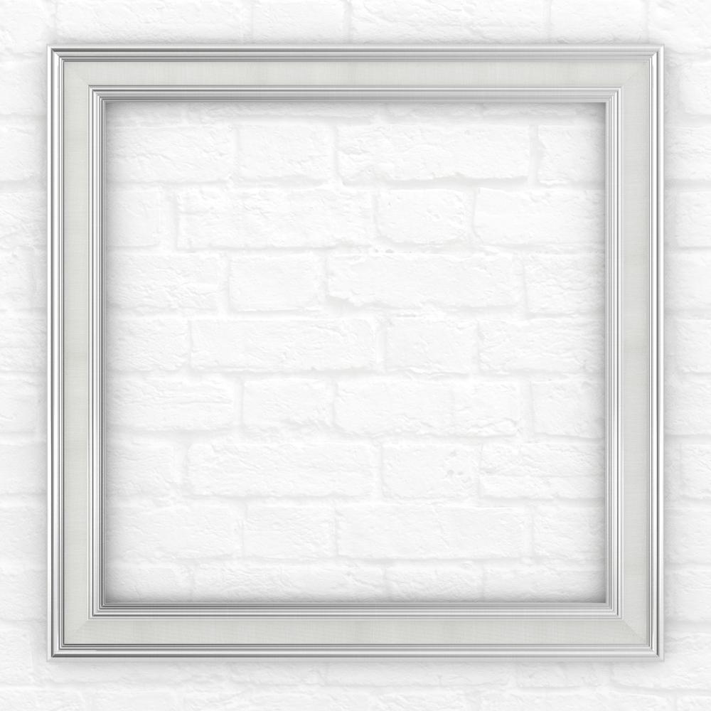 33 in. x 33 in. (L2) Square Mirror Frame in Classic Chrome