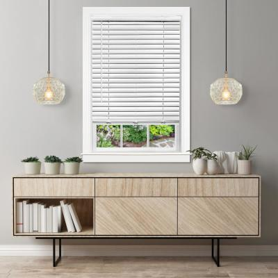 33 in. W x 64 in. L GII Luna White Cordless Venetian Blind