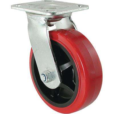6 in. Polyurethane Swivel Caster with 900 lb. Load Rating
