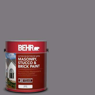 1 gal. #BXC-58 Stormy Gray Satin Interior/Exterior Masonry, Stucco and Brick Paint