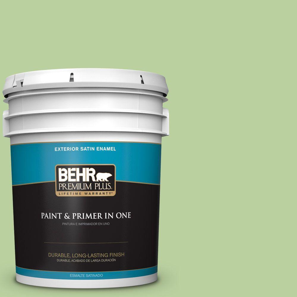 BEHR Premium Plus 5-gal. #P380-4 Four Leaf Clover Satin Enamel Exterior Paint