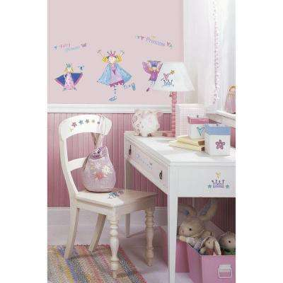 5 in. x 11.5 in. Fairy Princess Peel and Stick Wall Decal