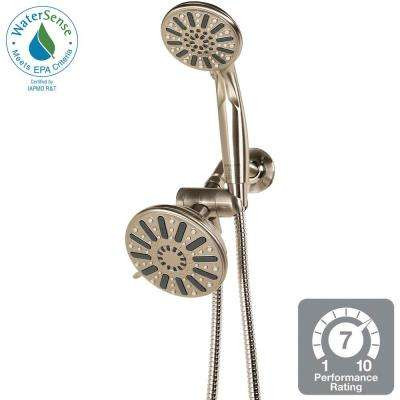 6-Spray Hand Shower and Showerhead Combo Kit in Brushed Nickel