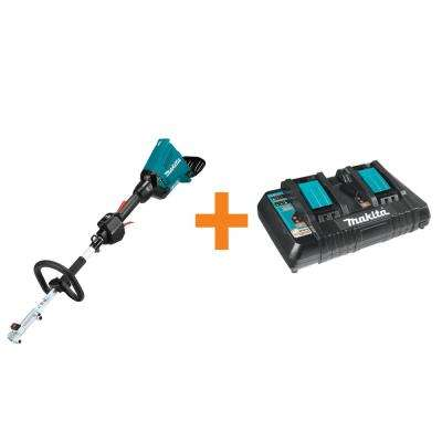 18-Volt X2 (36-Volt) LXT Brushless Couple Shaft Power Head (Tool-Only) with 18-Volt LXT Dual Port Rapid Optimum Charger