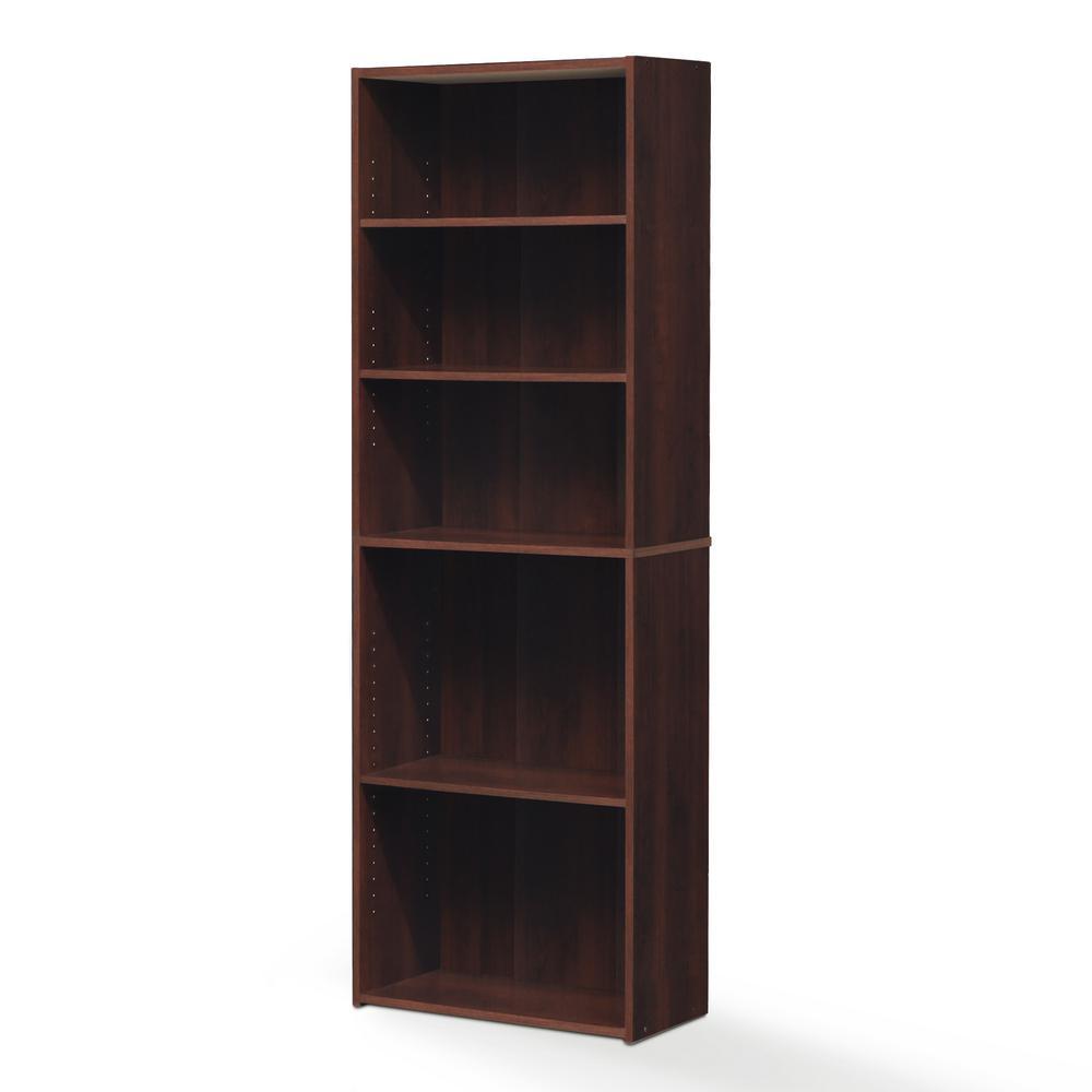 Wright Brook Cherry 5-Shelf Bookcase