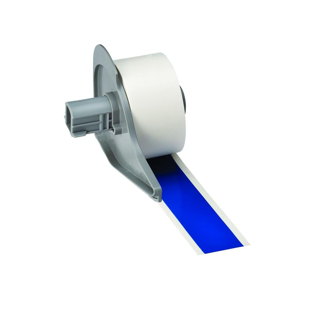BMP71 B-595 1 in. x 50 ft. Indoor/Outdoor Vinyl Blue Film