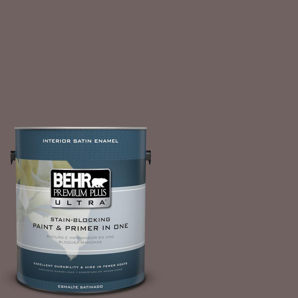 1-gal. #N140-6 Wright Brown Satin Enamel Interior Paint