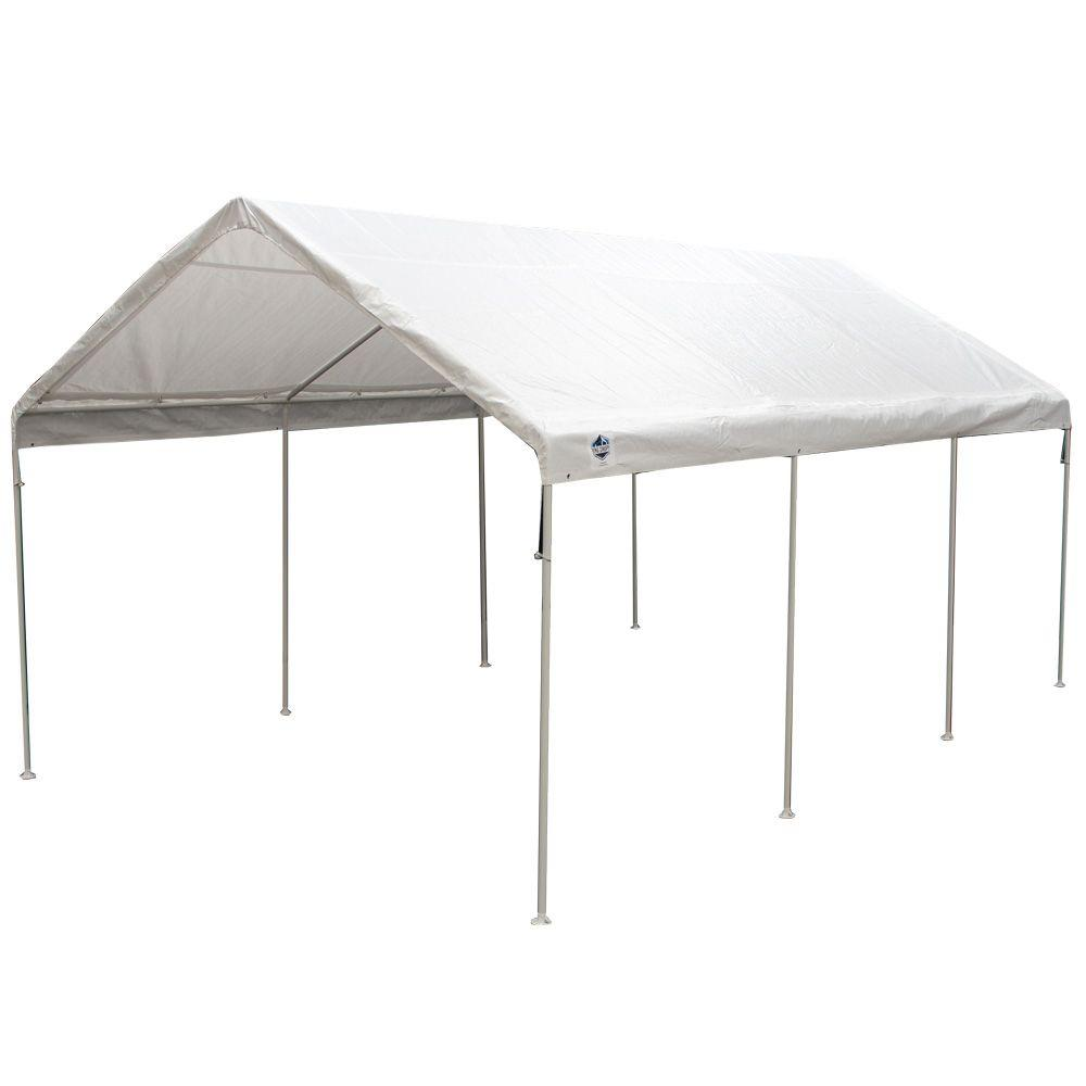 King Canopy 12 Ft W X 20 Ft D Universal Canopy In White C81220pc The Home Depot