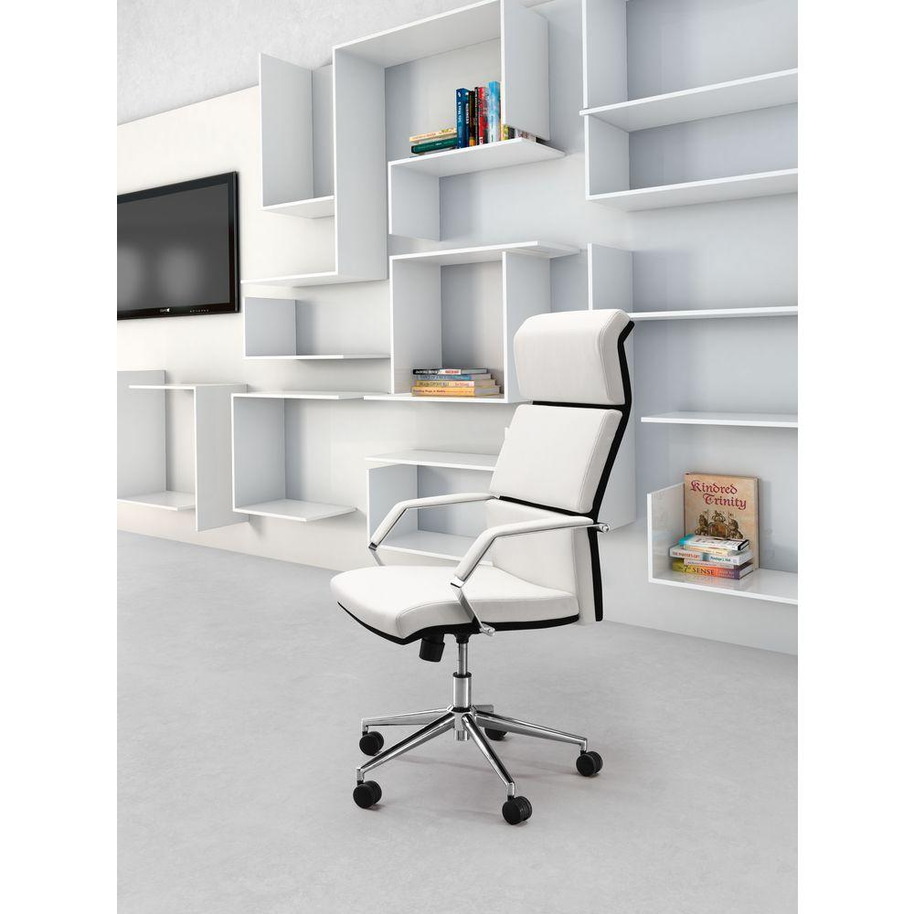 zuo lider pro white office chair