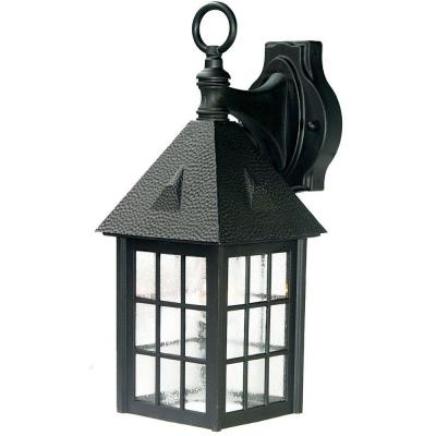 Outer Banks Collection 1-Light Matte Black Outdoor Wall Lantern Sconce