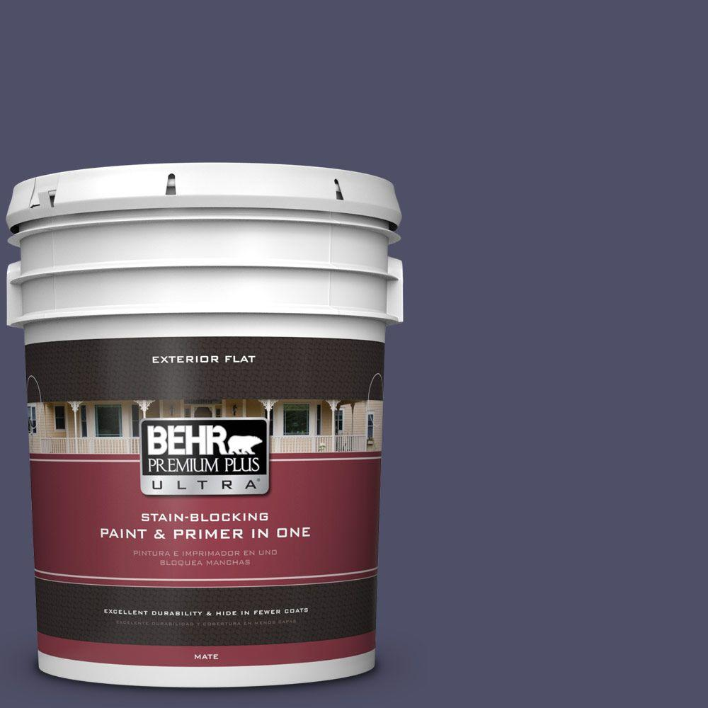 5-gal. #640F-7 Academy Purple Flat Exterior Paint
