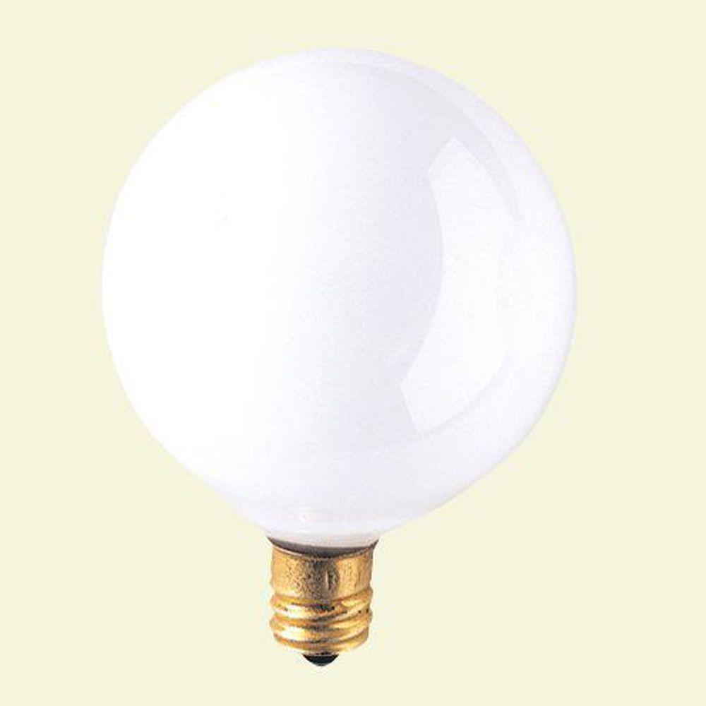 Bulbrite 15-Watt Incandescent G16.5 Light Bulb (25-Pack)