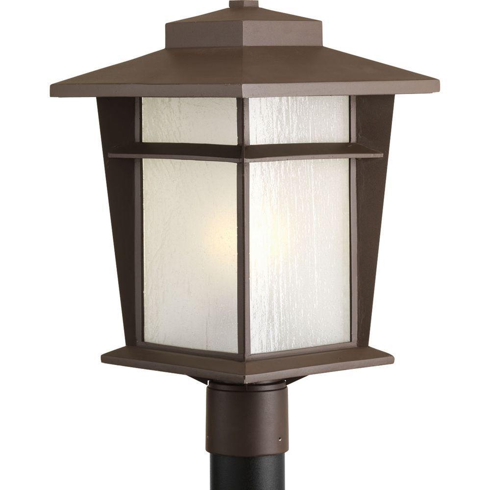 Progress Lighting Progress Lighting Loyal Collection 1-Light Antique Bronze Fluorescent Outdoor Post Lantern