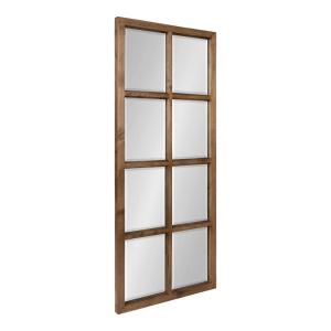 Hogan 42 in. x 18 in. Classic Rectangle Framed Natural Wall Accent Mirror
