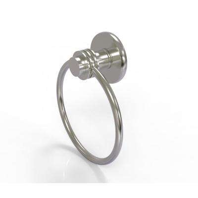 Mercury Collection Towel Ring with Dotted Accent in Satin Nickel