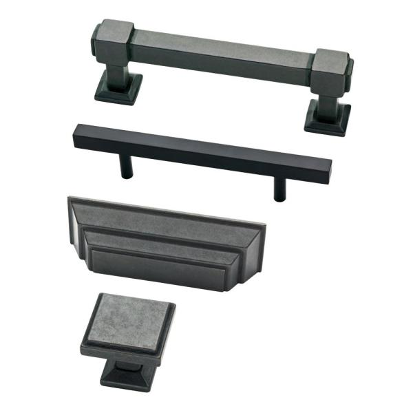 Liberty Square 3 3 4 In 96mm Center To Center Matte Black Bar Pull P37280c Fb Cp The Home Depot