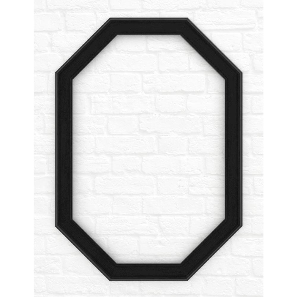 Delta 33 in. x 46 in. (L3) Octagonal Mirror Frame in Matte Black