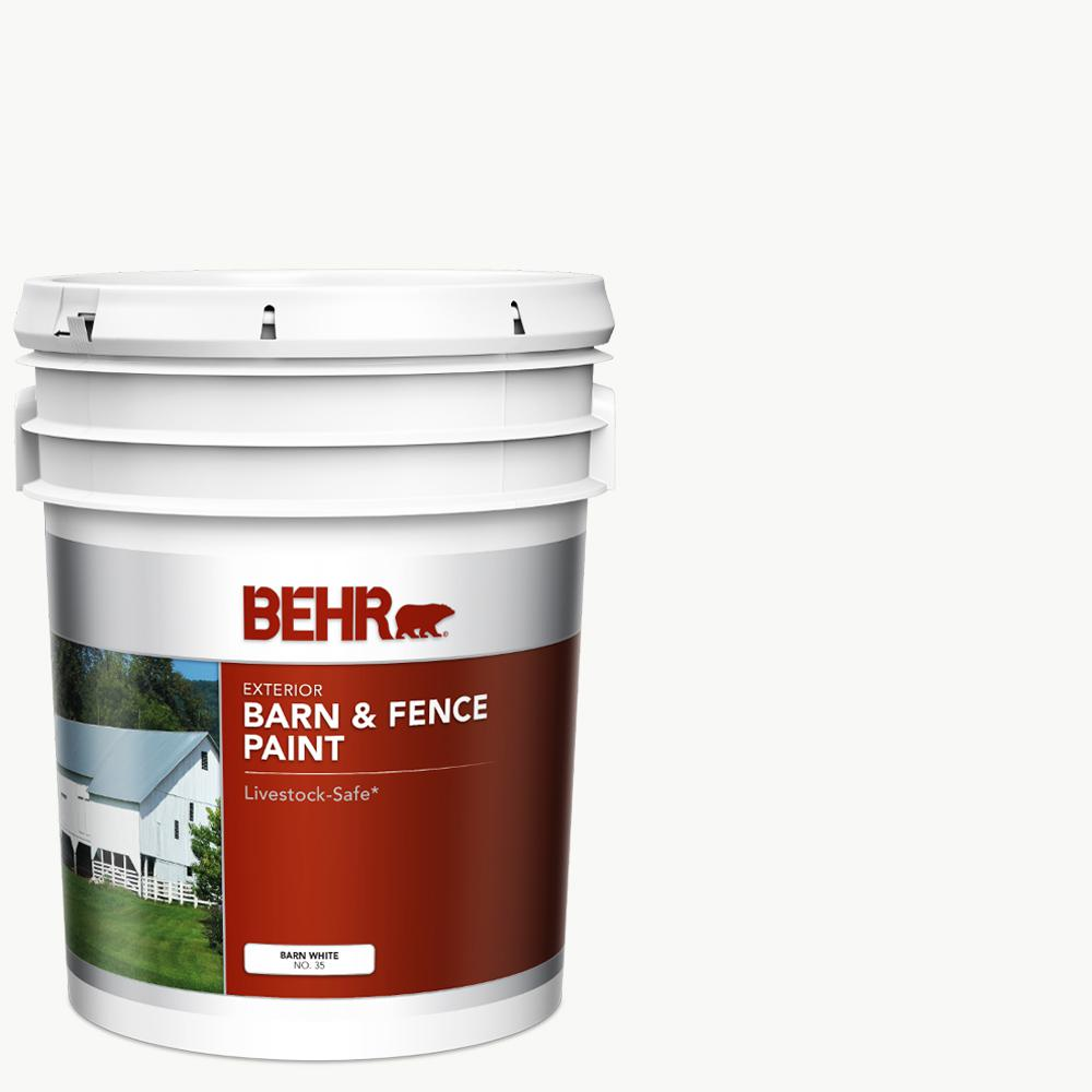 5 gal. White Exterior Barn and Fence Paint