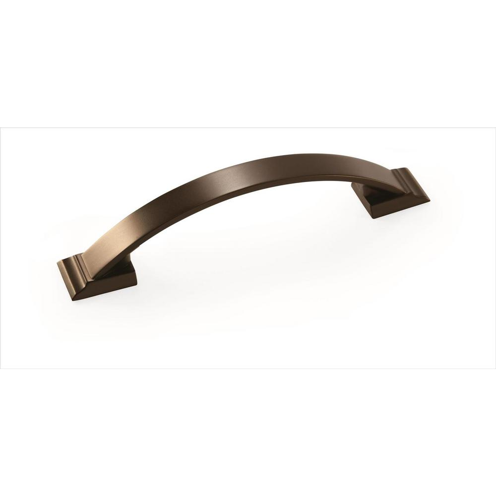 Amerock Candler 3-3/4 in (96 mm) Center-to-Center Caramel Bronze Cabinet Pull